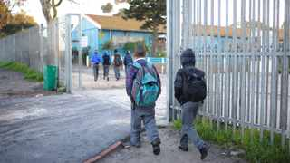 Learners in the Mannenberg area walk to school  Picture: Henk Kruger/ANA/African News Agency