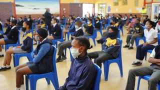 Learners wearing facemasks at Klapmuts Primary School in Stellenbosch in the Western Cape. Picture: Henk Kruger African News Agency (ANA).