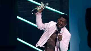 Lil Nas X accepts the award for Best Direction for 'Montero (Call Me by Your Name)' at the 2021 MTV Video Music Awards. Picture: Reuters/Mario Anzuoni