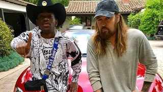 Lil Nas X gifts Billy Ray Cyrus a Maserati (c) Instagram