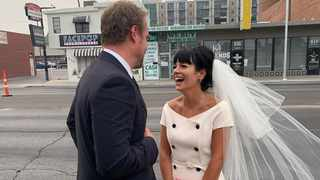 Lily Allen tied the knot with actor David Harbour in a Las Vegas wedding chapel. Picture: Instagram