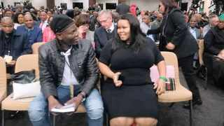 Lindiwe Mazibuko is seen with ANC NEC member Ronald Lamola at the academics and professionals conversation with President Cyril Ramaphosa this week. The picture of her seated next to Lamola spread like wildfire on party WhatsApp groups. Picture : Facebook/MY ANC