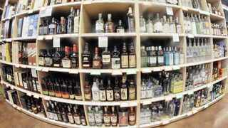 Liquor outlets are expecting an influx of customers on Monday. AP
