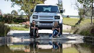 Lira and Elma Smit with the 2021 Land Rover Defender 90