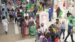 Long queues at Galleria Mall last week as residents stocked up before the national lockdown.  Picture: Zanele Zulu/African News Agency (ANA)