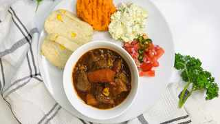 Love traditional meals? Then you simply have to try this easy homemade beef stew with steamed bread recipe, courtesy of top 30 Miss SA contender Andile Mazibuko. Picture: Supplied