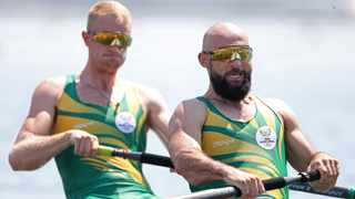 Luc Daffarn and Jake Green of South Africa in action at the Olympics. Picture: Carl Recine/Reuters