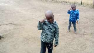 Lwandile Mkhize, in front, and Mnqobi Mkhize at the back died after an abandoned house where they were playing caught fire. Thandolwethu Sithole, not the picture, also died. Picture: Supplied