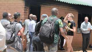MEC Lebogang Maile visited the office of a Mamelodi councillor that was burnt by people protesting against their eviction from flats they had occupied illegally.     Bongani Shilubane  African News Agency (ANA)