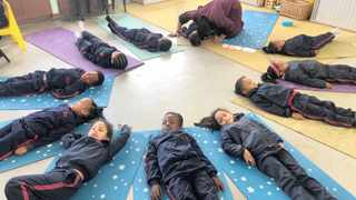 MERRYDALE Primary School's Grade R learners practise meditation in class. Research has shown that practising yoga regularly leads to better mental, physical and intellectual health.