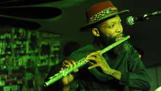 MULTI MAGIC: Urban Village frontman Tubatsi Moloi gave the audience a taste of his instrument playing during the group's live performance at Constitution Hill. Picture: Matthews Baloyi