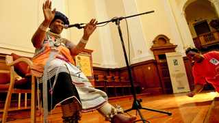 Madosini has made a name for herself playing indigenous South African instruments. Picture: Adrian de Kock
