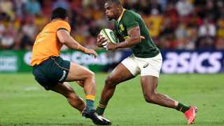 Makazole Mapimpi of the Springboks in action against Wallabies. Picture: EPA