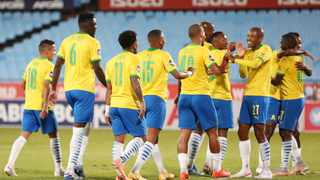 Mamelodi Sundowns added another glorious chapter to the club's history books by annexing the Premiership 2020/21 title following their 3-1 triumph over SuperSport United in the Tshwane derby yesterday. Photo: Samuel Shivambu/BackpagePix