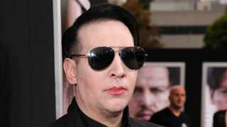 Marilyn Manson arrives at the Los Angeles premiere of 'Transcendence' at the Westwood Regency Village Theater on Thursday, April 10, 2014. Picture: Todd Williamson/Invision/AP