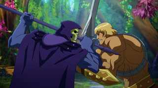 Mark Hamill as Skeletor and Chris Wood as He-man in 'Masters of the Universe: Revelation'. Picture: Netflix