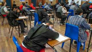 Matrics at President High School in Goodwood write their first paper for the matric exams of 2020, English First Additional Language Paper 1. Picture: African News Agency (ANA)