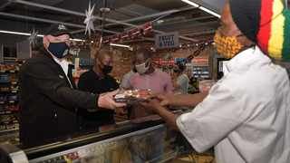 Mayco member for economic opportunities and asset management James Vos during a visit to the Nabe and Tembi market stores in Langa. Picture: Supplied