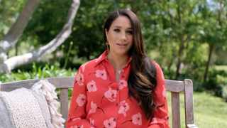 Meghan, Duchess of Sussex, speaking during Vax Live. Picture: YouTube Screenshot