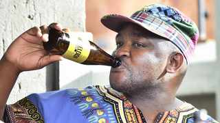 Melusi Hlwempu, creator of the Mamelodi Lager, trying to cool off with his own brand of brew. Picture: Thobile Mathonsi/ANA