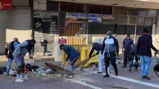 Members of the Durban taxi associations under the SA National Taxi Association (SANTACO) went viral this week when they arranged a clean up operation in Durban's wrecked CBD.