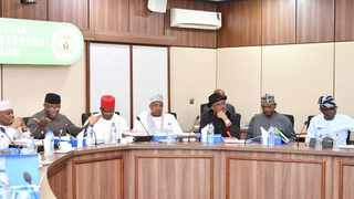Members of the Nigeria Governors' Forum (NGF) during a meeting on Covid-19. Photo: Nigeria Governors' Forum