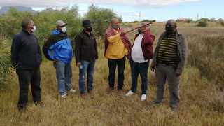 Members of the Somagwaza Institute inspect an additional initiation site to be used to accommodate more initiates as existing sites are expected to be full.