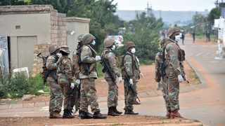 Members of the South African National Defence Force(SANDF) patrol the streets of Majasana near Ennerdale south of Gauteng, supporting police during the national lockdown to make sure measures are implemented by citizen. Picture: Itumeleng English/ African News Agency(ANA)