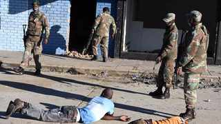 Members of the South African National Defence Force (SANDF) were deployed in Alexandra township in Gauteng on Tuesday as ramapant looting continued in the province. Picture: Elmond Jiyane/GCIS