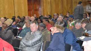 Members of the public at the Land public hearings at the Kokstad Town Hall Picture:Tumi Pakkies/African News Agency (ANA)