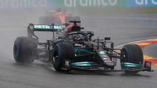 Mercedes' Lewis Hamilton in action at Spa. Picture: Johanna Geron/Reuters