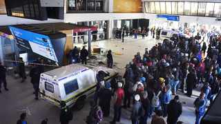 Metrorail commuters went on a rampage, damaging offices and looting shops at the Cape Town Station on Monday night. Picture: Phando Jikelo/ANA Pictures