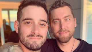 Michael Turchin and Lance Bass. Picture: Instagram