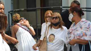 Miguel Louw's family gather outside and comfort each other after the court case at the Durban High court. Picture: Tumi Pakkies/African News Agency (ANA)