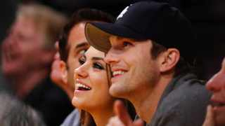 Mila and Ashton went viral after their comments as people both agreed and disagreed with their stance on washing their children. Picture: AP