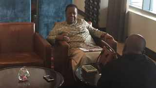 Minister Naledi Pandor in an interview with the Pretoria News in Ghana.