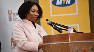 Minister of Basic Education, Angie Motshekga, announcing the results of the National Senior Certificate (NSC) examinations at GCIS in Pretoria.