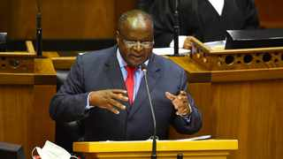 Minister of Finance Tito Mboweni delivers the Budget Speech 2021 at the National Parliament of South Africa. Photograph : Phando Jikelo/African News Agency(ANA)
