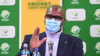 Minister of Sports Arts and Culture Nathi Mthethwa during the CSA Press Conference on the 30 April 2021 at CSA Offices Pic Sydney Mahlangu/BackpagePix