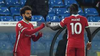 Mohamed Salah and Sadio Mane are among the global sports start to comdemn the violence against the Palestinians. Photo: Paul Ellis/AFP