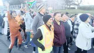 More than 100 Idas Valley and Cloetesville residents marched in Stellenbosch over housing back in July. Picture: Supplied