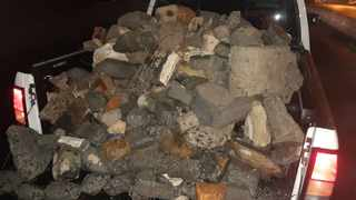 Motorists have been warned to remain vigilant as opportunistic criminals place rubble in roadways to disable vehicles or get motorists to stop. Picture: Supplied