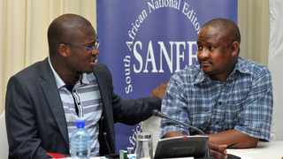 Mpumelelo Mkhabela and Sanef Gauteng convenor Hopewell Radebe. Picture: Supplied