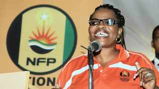 NFP leader Zanele Magwaza-Msibi died at the Umhlanga Hospital in Durban on Monday morning. Picture: Marilyn Bernard
