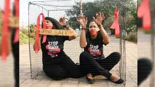 NOT FOR SALE: Women protest against human trafficking. Picture: Sibusiso Ndlovu