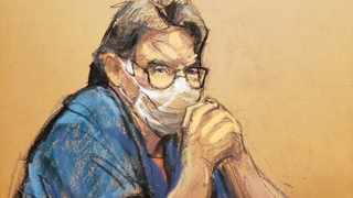 NXIVM cult leader Keith Raniere looks on during his sentencing hearing in a sex trafficking and racketeering case inside the Brooklyn Federal Courthouse in New York in this courtroom sketch. Picture: Jane Rosenberg/Reuters