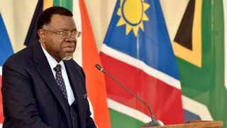 Namibian President Hage Geingob has announced stricter Covid-19 measure, locking Windhoek for two weeks. Filed picture: Kopano Tlape/GCIS