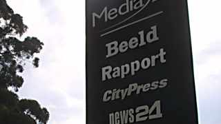 Naspers' stable of publications as seen on a plinth outside the company's Johannesburg office, Media Park. File picture: Independent Media