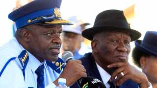 National Police Commissioner Khehla Sitole and Minister of Police Bheki Cele Picture: Jacques Naude/African News Agency/ANA