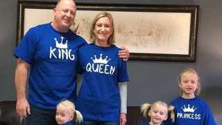 New Zealand media is reporting that police have charged Lauren Dickason pictured with her husbad Graham with the murders of her twin daughters Maya and Karla, 2, and their older sister Liane, 6. Picture: Facebook.